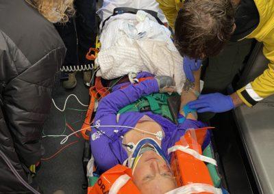 Emily Harrington and medic