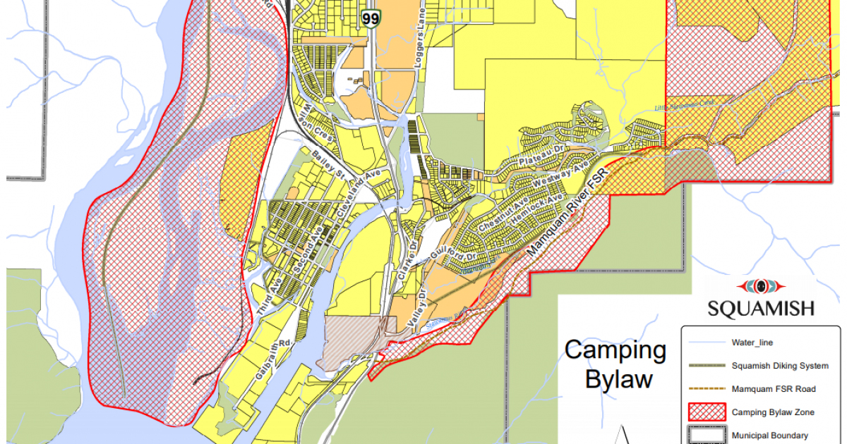 Squamish British Coumbia Map