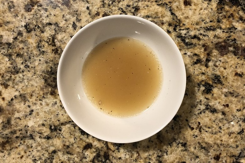 Bowl of homemade collagen supplement broth