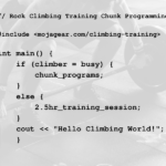 Chunk Programs: Rock Climbing Training for Busy People